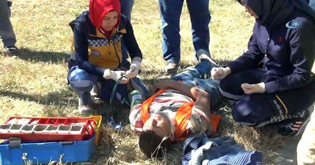 TIR işçileri taşıyan minibüse çarptı, 6 yaralı