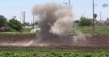 Kilis'e düşen rokete ait parçalar imha edildi