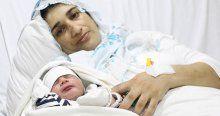Şehidin 'Umut' adını verdiği bebeği dünyaya geldi