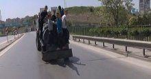 Su tankerine çıkan çocukların tehlikeli yolculuğu