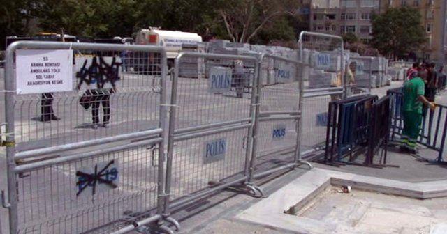 Gezi Parkı yaya trafiğine kapatıldı