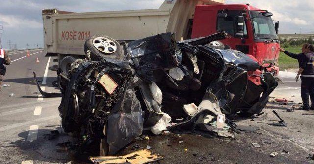Kütahya'da feci kaza, 1 ölü