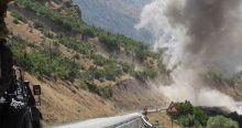 PKK'lıların atmak istediği bomba araçta patladı