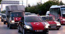 Şehit Astsubay Anıl Gül için 150 araçlık konvoy