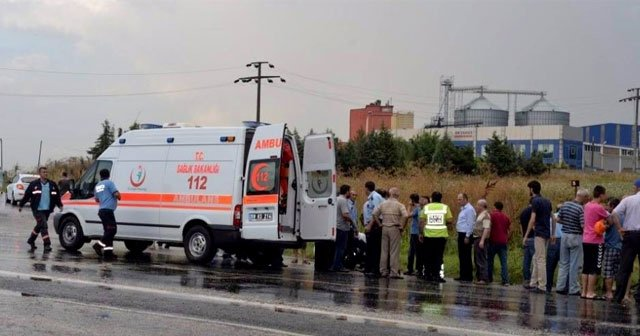 İşçi servisi devrildi: 16 yaralı