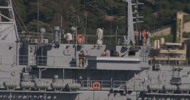 Rus gemisinde dikkat çeken görüntü