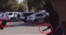 Bıçaklı saldırgan polis tarafından vuruldu