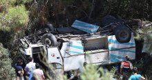 Tarım işçilerini taşıyan minibüs uçuruma devrildi, 17 yaralı