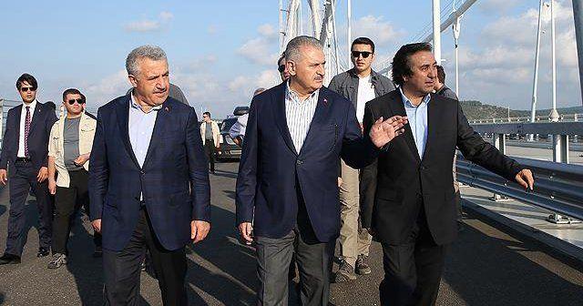 Başbakan Binali Yıldırım 3. Köprü'de inceleme yaptı