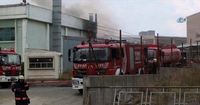 Kimyasal maddelerin bulunduğu fabrikada yangın