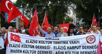 Ankara'daki Elazığlılar terör saldırısını lanetledi