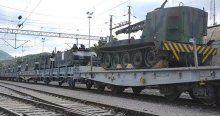 Bilecik'teki cephane dolu yük treni yola çıktı