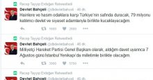 Erdoğan'dan Bahçeli sürprizi