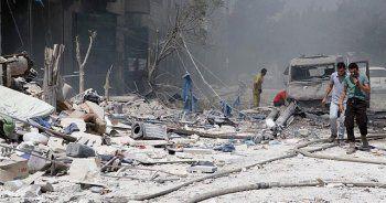 Esad rejimi Halep'te taziye çadırını vurdu, 20 ölü