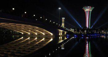 EXPO Kulesi İtalya bayrağının renklerine büründü