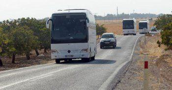 ÖSO mensupları sınıra otobüslerle geldi