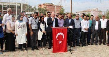 Silopi'de PKK ve FETÖ protestosu