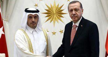 Cumhurbaşkanı Erdoğan, Katar Başbakanı Al Sani'yi kabul etti