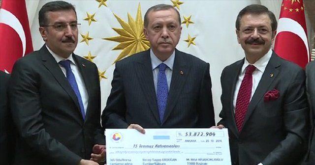 Erdoğan'a böyle taktim ettiler