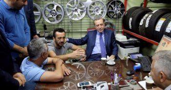 Erdoğan ve vatandaş arasında güldüren diyalog
