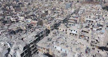 Halep'teki yıkım havadan böyle görüntülendi