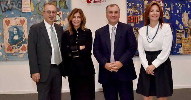 Yıldız Holding Sergi Salonu'nda iş dünyası ve sanatseverler bir araya geldi