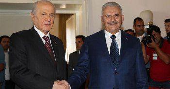 Başbakan Yıldırım ve MHP lideri Bahçeli görüşmesi sona erdi
