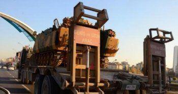 Gaziantep'ten Suriye sınırına zırhlı araç sevkiyatı