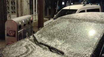 Tekirdağ'da beklenen kar yağışı başladı