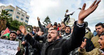 Gazzeli işçilerden 'abluka' protestosu