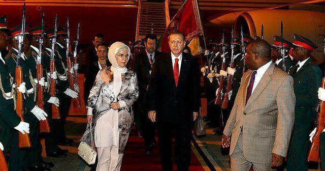 Cumhurbaşkanı Erdoğan Afrika turunun ikinci durağı Mozambik'te
