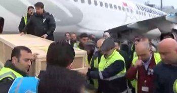 Uçak kazasında ölenlerin cenazeleri Türkiye'ye getirildi