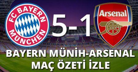 Bayern Münih 5-1 Arsenal maçı Geniş Özeti ve Golleri (Bayern Arsenal Golleri ve Özeti İZLE)