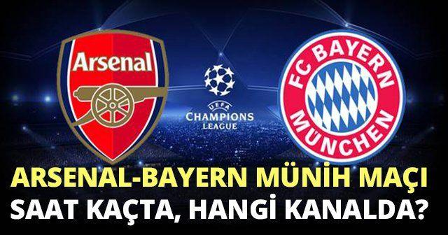Arsenal Bayern Münih maçı ne zaman, SAAT KAÇTA YAYINLANACAK | TRT1 CANLI İZLE