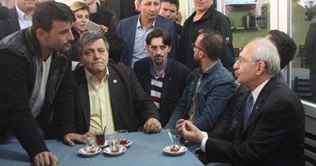 Kılıçdaroğlu'ndan kahvehane ziyareti