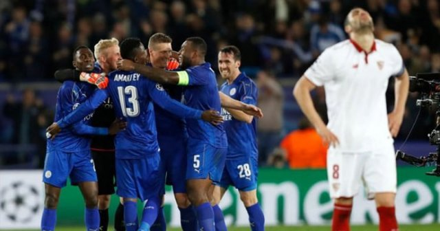 Leicester City Sevilla'yı 2-0  yenerek çeyrek finale çıktı
