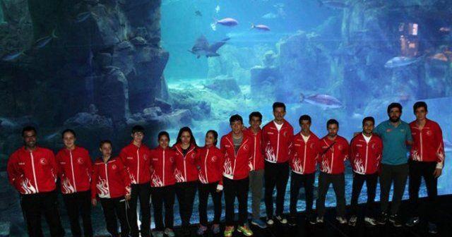 Milliler İstanbul Akvaryum'da su altı dünyasını keşfetti