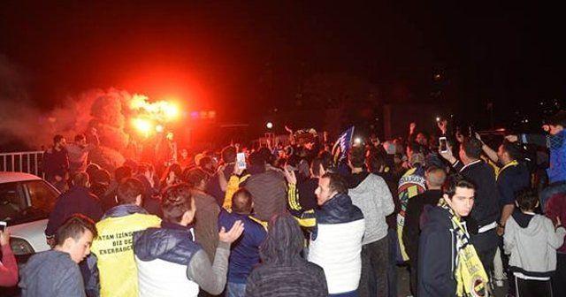 Samandıra'da Fenerbahçe'ye çoşkulu karşılama