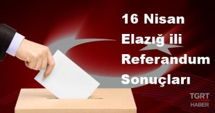Elazığ 2017 referandum seçim sonuçları | Elazığ oy sonuçları! | Evet - Hayır oranı
