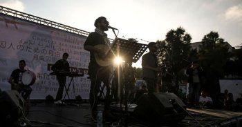 İsrail hapishanelerinde açlık grevindeki Filistinlilere destek konseri