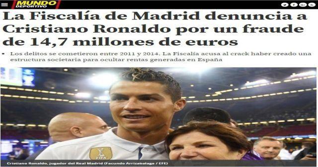 Ronaldo'ya 14.7 milyon Euro'luk soruşturma