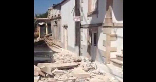 Yunanistan'dan deprem açıklaması: Yıkılan binalar var
