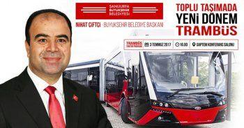 Büyükşehir trambüs tanıtımını yaptı