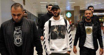 Real Madridli Benzema İstanbul'a geldi