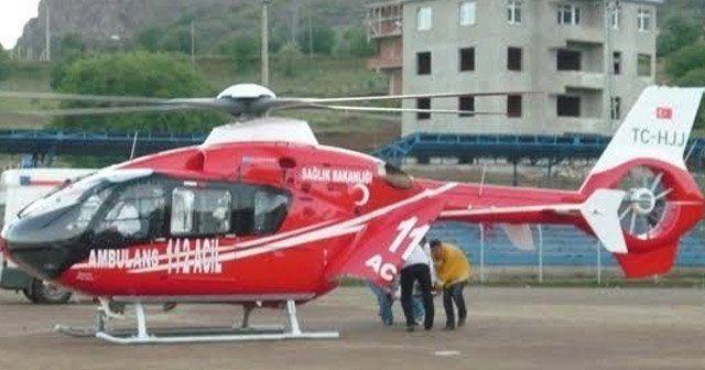 Ambulans helikopter 9 yılda 883 vaka için bin 560 saat havada kaldı