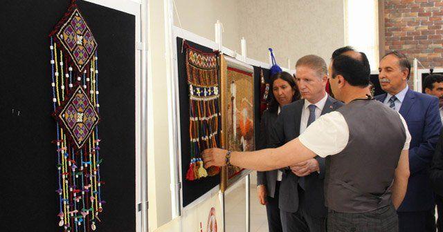 Dokuma halısı sergisi açıldı