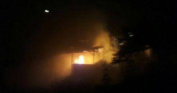 Darende'de ev yangını