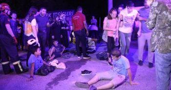 Kur'an kursu öğrencilerinin piknik keyfi kazayla sonlandı: 15 yaralı