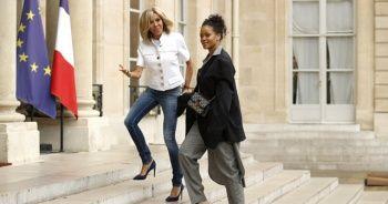 Rihanna, Fransa Cumhurbaşkanı Macron'la görüşüyor