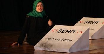 Şehit Ömer Halisdemir'in kardeşi ve Şehit Erol Olçok'un eşi programa katıldı